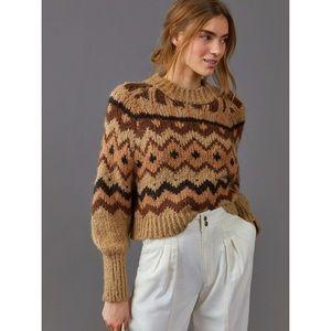 Anthropologie NWT Garson Geometric Sweater Size XS.